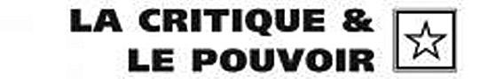 [recherche] De l'intellectuel Critique, par Fabrice Thumerel