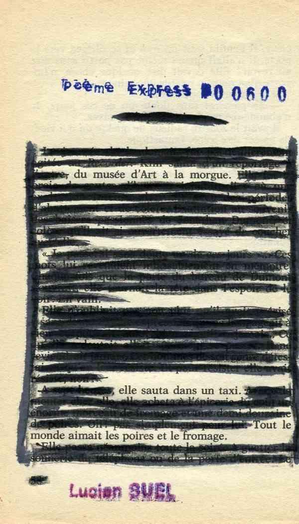 poeme express lucien suel