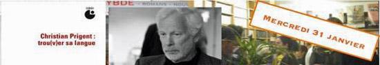 [News] Christian Prigent : trou(v)er sa langue, soirée à la Librairie Charybde