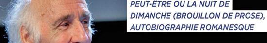 [Chronique] Jacques Roubaud, Peut-être ou La Nuit de dimanche, par Jean-Paul Gavard-Perret
