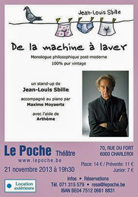 [Chronique] Jean-Louis Sbille, De la machine à laver