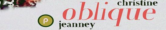 [Livre-chronique] Fictions temporelles : 2. Christine Jeanney, Oblique