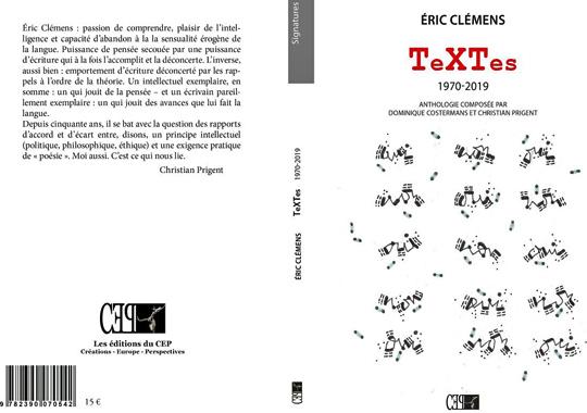 [Chronique] Éric Clémens, TeXTes (anthologie), par Bruno Fern